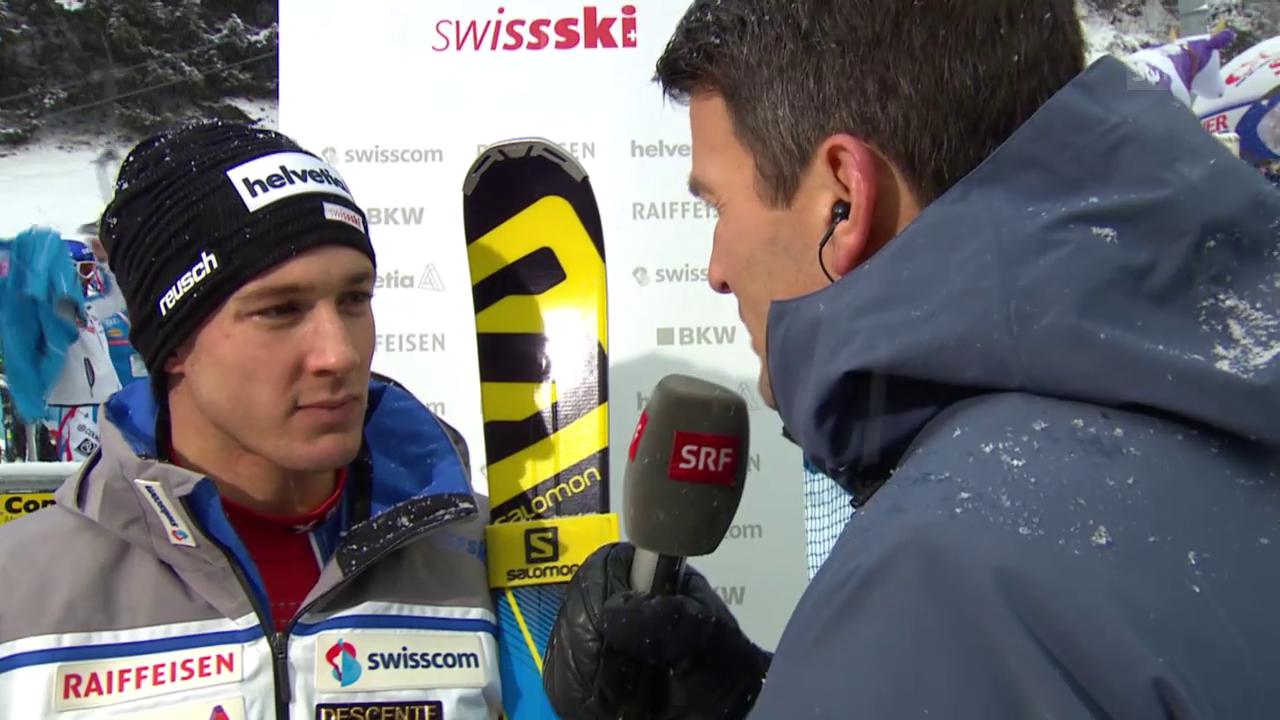 Luca Aerni im Interview nach seinem Ausscheiden