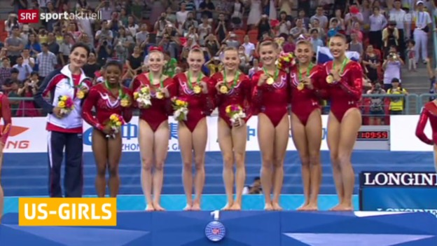Video «Kunstturnen: US-Girls holen WM-Gold» abspielen