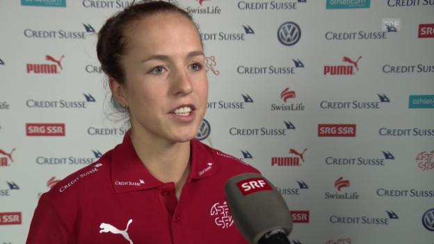 Video «Lea Wälti über eine mögliche Teilnahme am Olympia-Turnier in Rio» abspielen