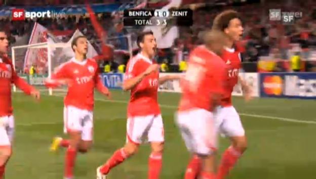 Video «CL-Achtelfinal: Benfica Lissabon - Zenit St. Petersburg» abspielen