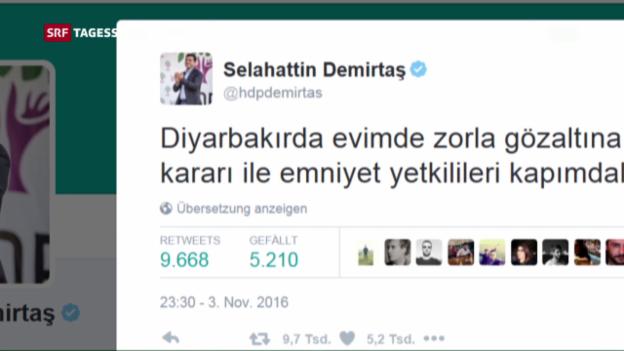 Video «HDP-Chefs in der Türkei verhaftet» abspielen
