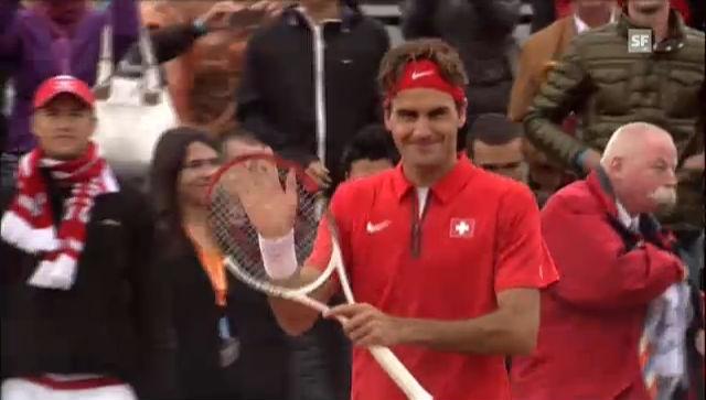 Tennis: Davis Cup, De Bakker - Federer