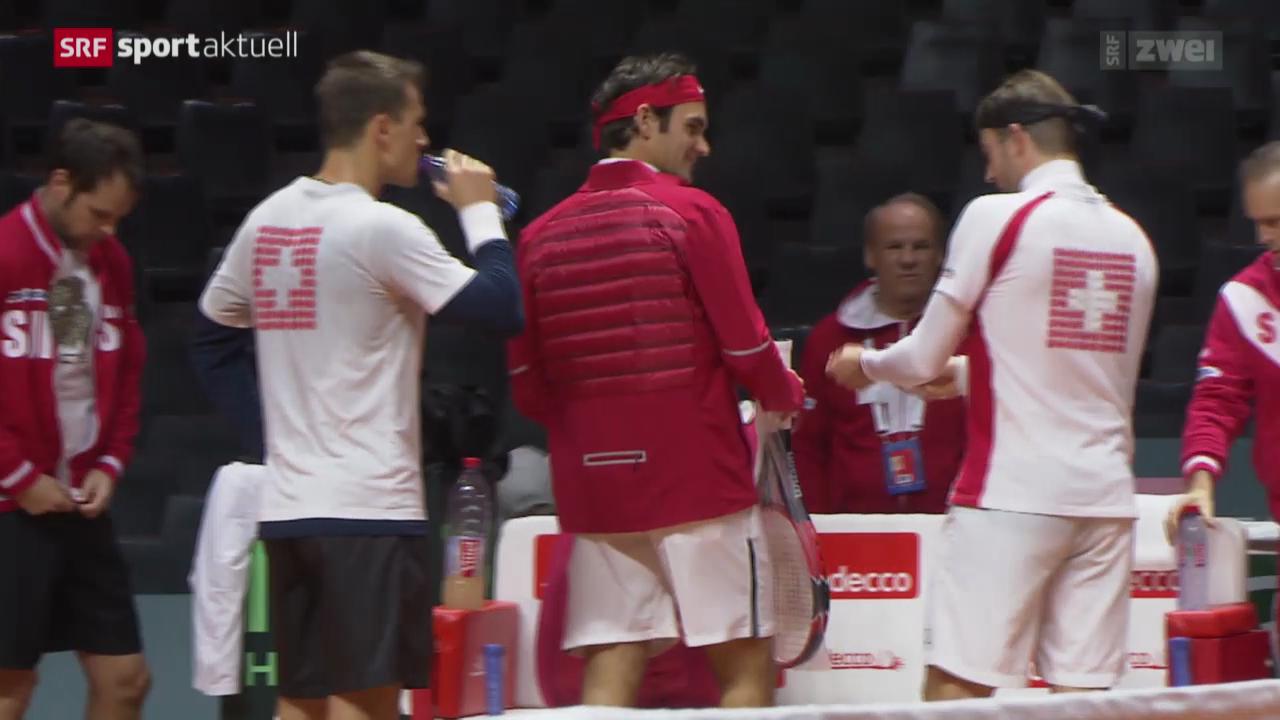 Tennis: Schweiz vor dem Davis-Cup-Final