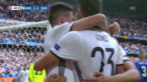 Laschar ir video «Gomez fa il 2:0 per la Germania»