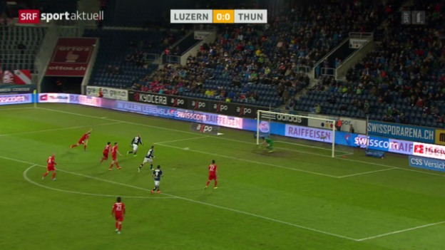 Video «Fussball: Super League, Luzern-Thun» abspielen