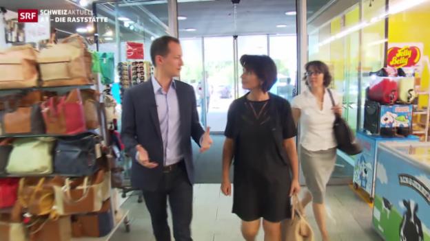 Video «Bundesrätin Doris Leuthard besucht den Fressbalken» abspielen