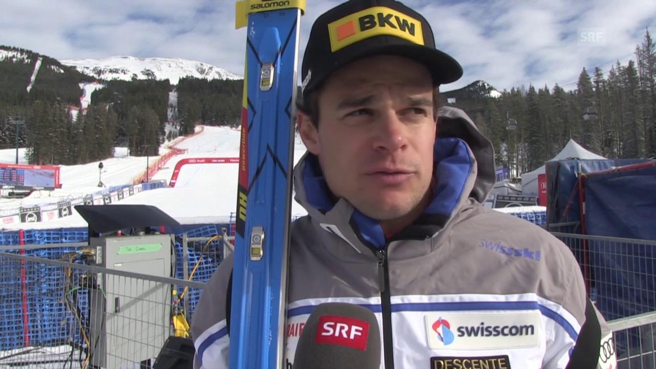 Ski Weltcup: 2. Training Lake Louise, Reaktion Patrick Küng