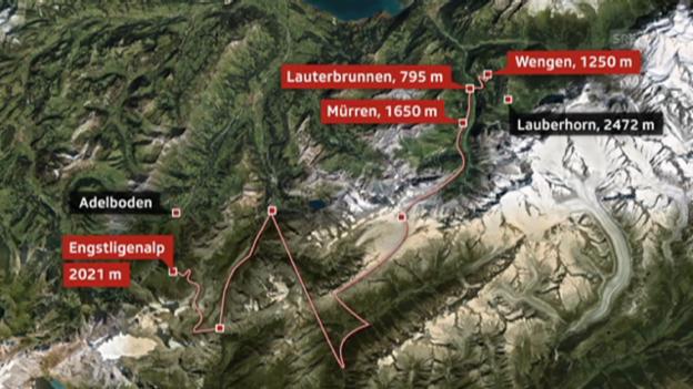 Video «Route «Drei Spuren im Schnee»» abspielen