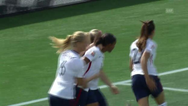 Video «Fussball: Frauen-WM in Kanada, die ersten 3 Tore von Frankreich gegen Mexiko» abspielen