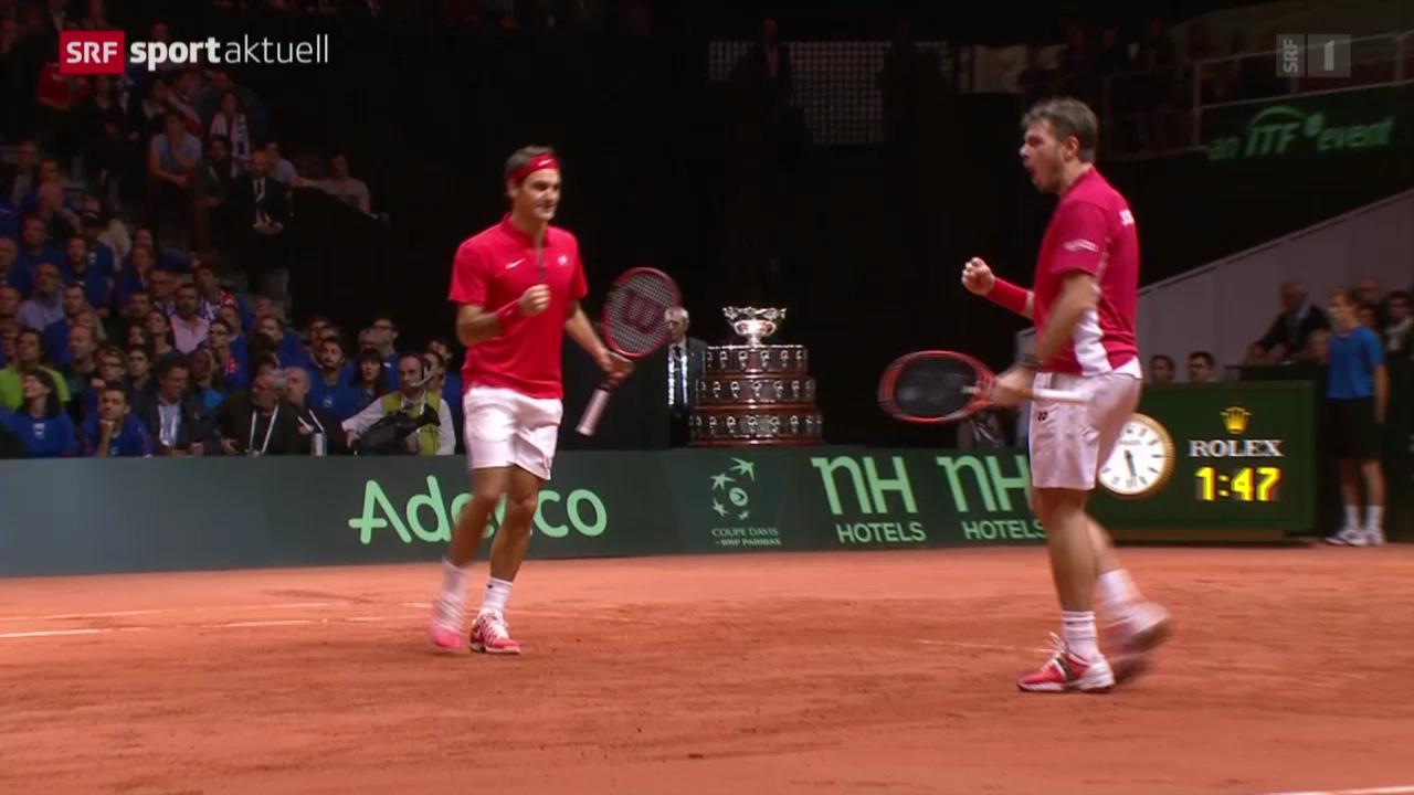 Tennis: Davis-Cup-Final in Lille, Doppel
