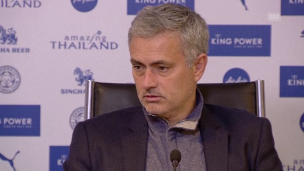 Video «Fussball: Premier League, Interview Jose Mourinho» abspielen