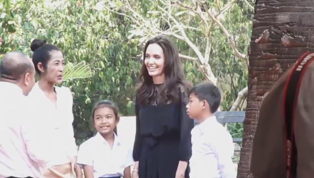 Video «Angelina Jolie stellt in Kambodscha ihren Film vor (unkomm.)» abspielen