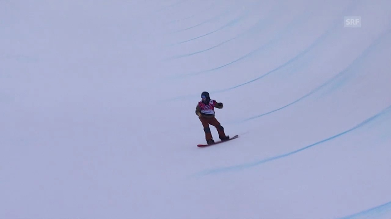 Snowboard: Halfpipe Männer, Quali, 2. Run David Hablützel (sotschi direkt, 11.2.2014)