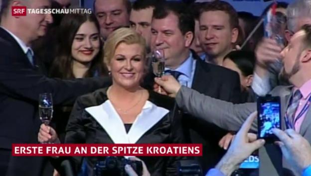 Video «Erste Frau an der Spitze Kroatiens» abspielen