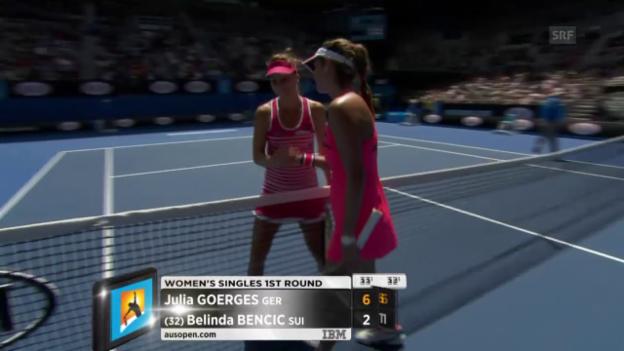 Video «Tennis: Belinda Benic taucht gegen Görges» abspielen