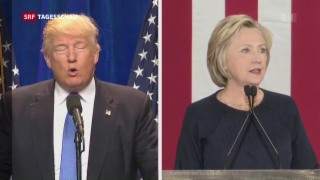 Video «Vor dem letzten Duell Clinton gegen Trump» abspielen
