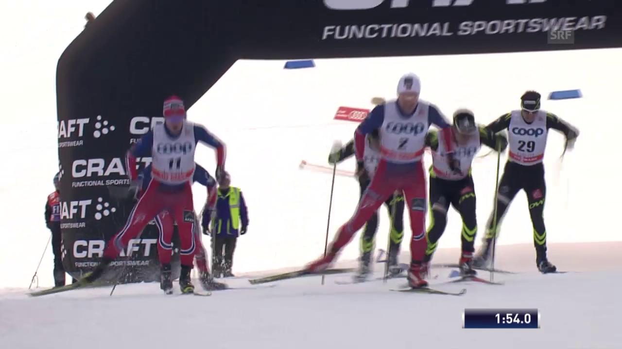 Langlauf: Weltcup in Lahti, Sprint Männer, Final