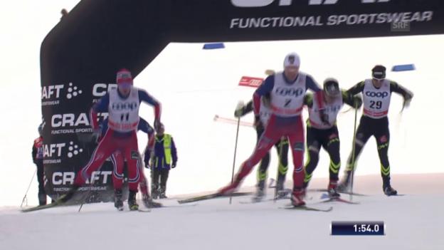Video «Langlauf: Weltcup in Lahti, Sprint Männer, Final» abspielen