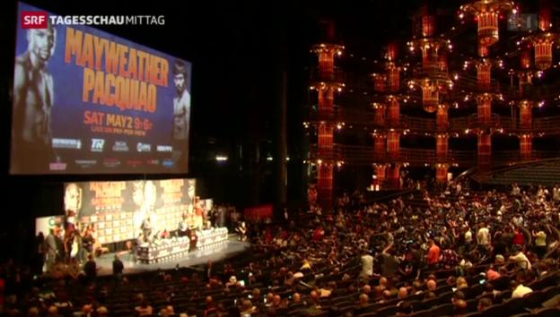 Video «Boxen: Mayweather und Pacquiao vor dem Jahrhundertkampf» abspielen