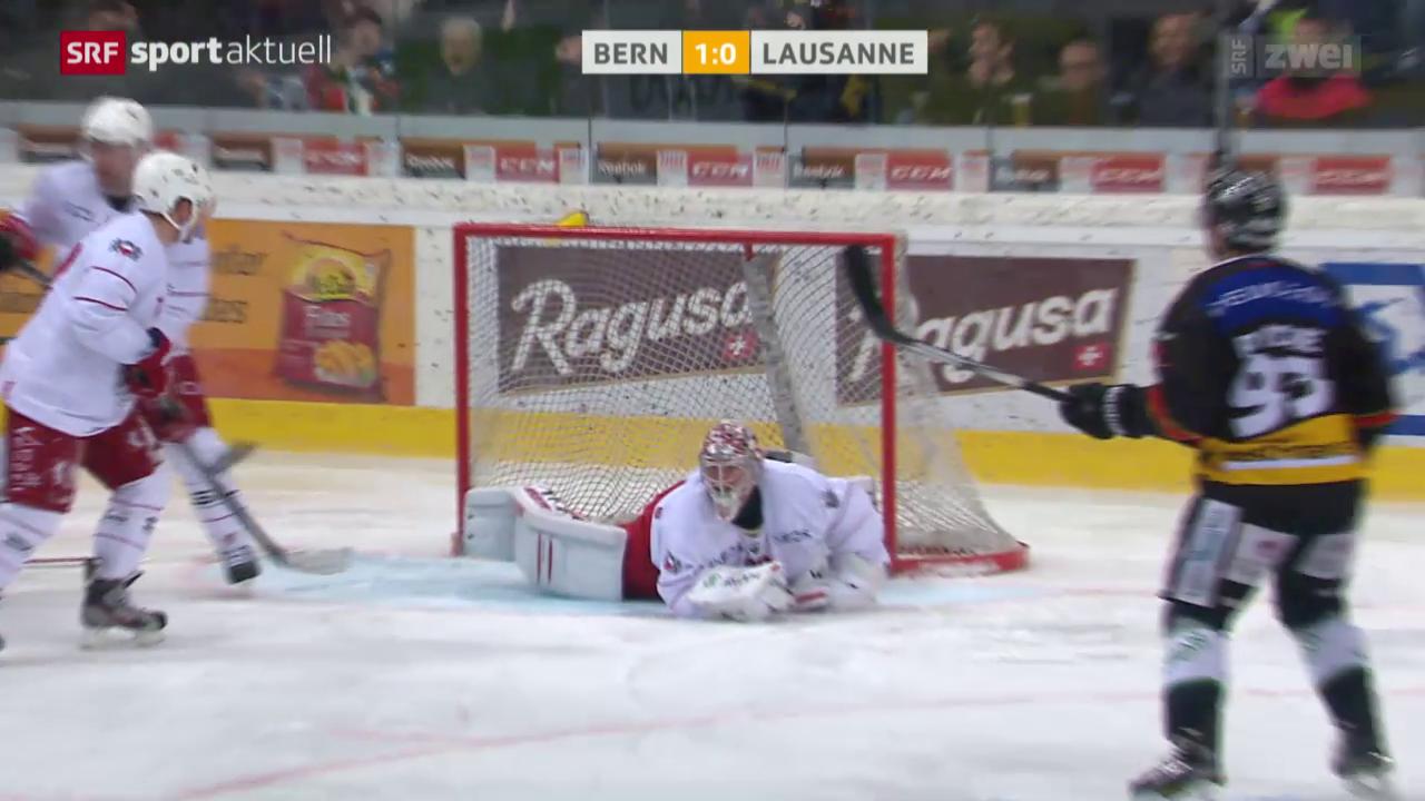 Eishockey: NLA, Playoff-Viertelfinal Bern-Lausanne 7. Spiel