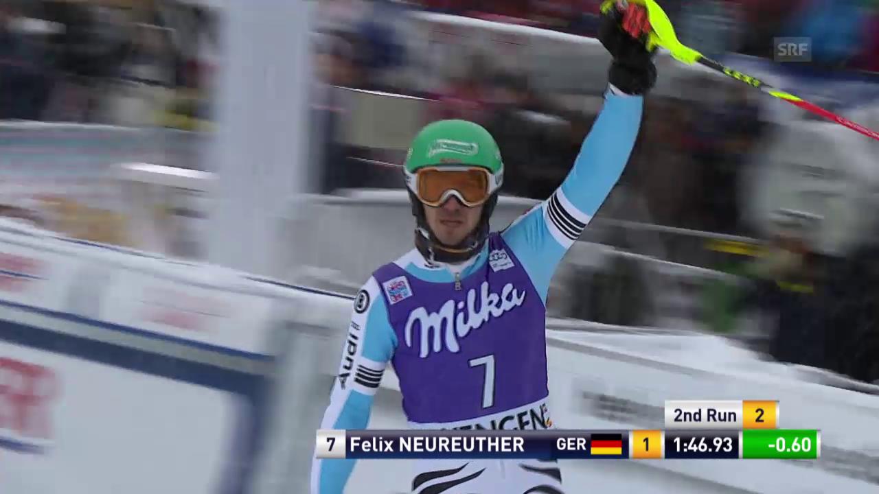 Ski alpin: Slalom Wengen, 2. Lauf von Neureuther
