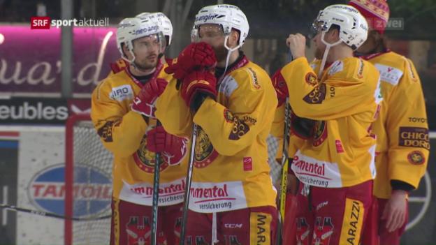 Video «Langnau kassiert in Freiburg eine happige Niederlage» abspielen