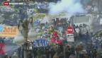 Video «Blutige Ausschreitungen in der Ukraine» abspielen