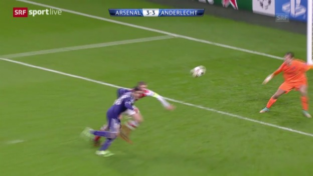 Video «Fussball: CL, Arsenal-Anderlecht» abspielen