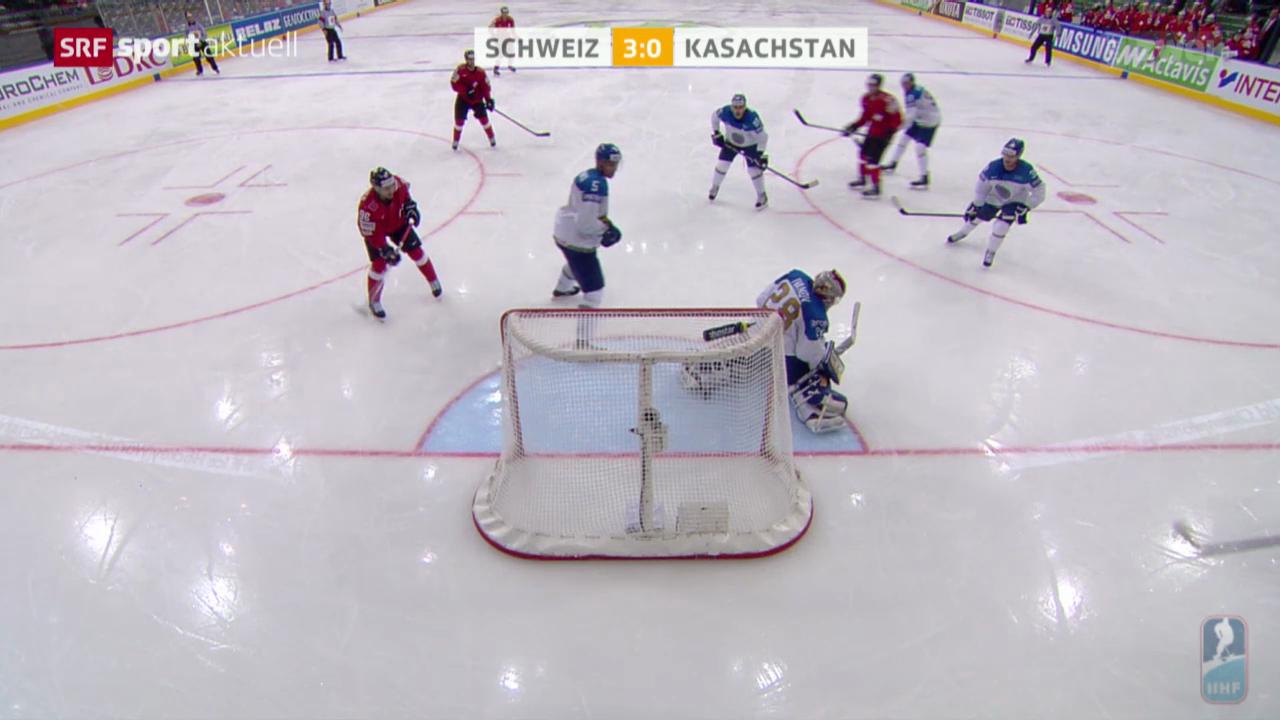 Eishockey: WM-Gruppenspiel Schweiz - Kasachstan