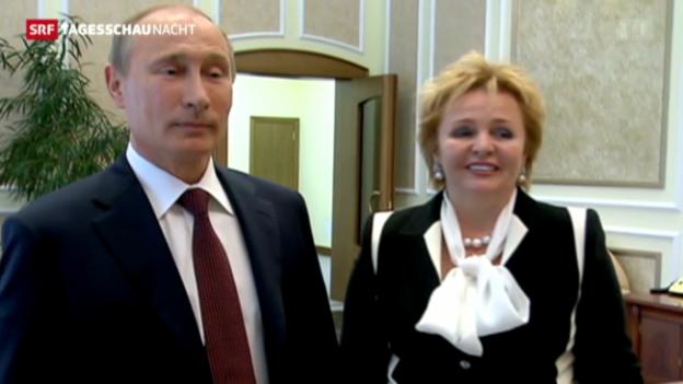 Video «Ehepaar Putin trennt sich» abspielen