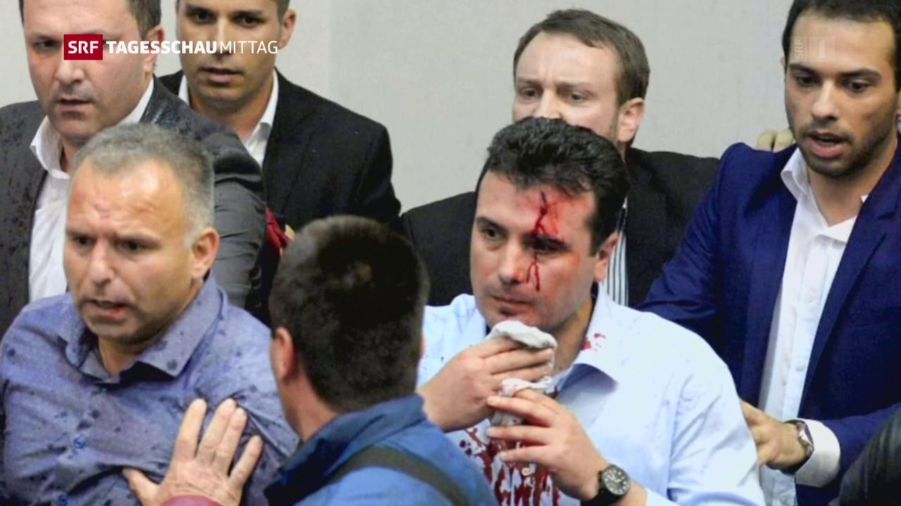 Parlament in Mazedonien gestürmt