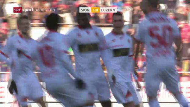 Video «Sion gewinnt Duell um Rang 3 gegen Luzern» abspielen