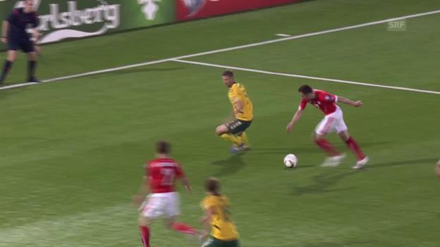 Video «Fussball: EM-Qualifikation, Litauen-Schweiz, Drmic verpasst Führung» abspielen