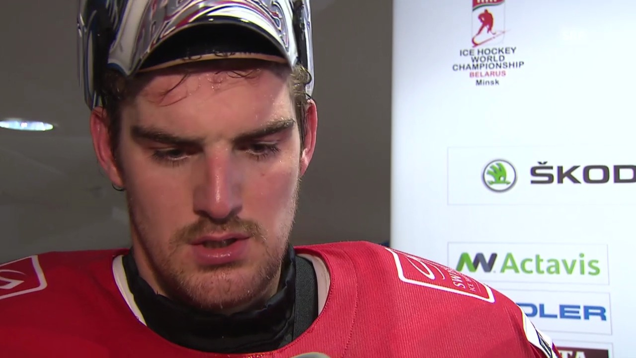 Eishockey: WM, Interview mit Reto Berra