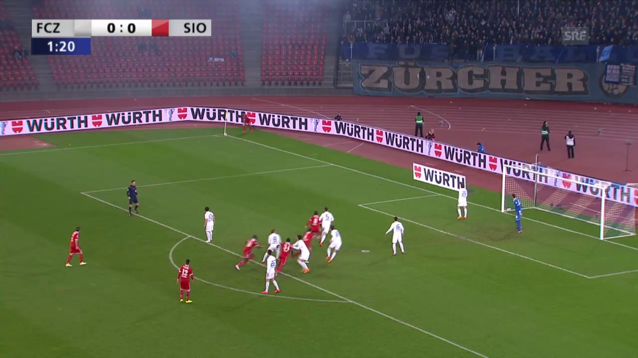 Fussball: Cup, FCZ-Sion, 1. Halbzeit