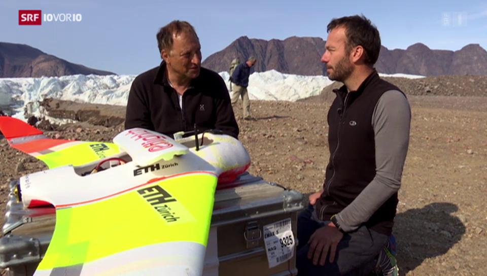 Eine Flugzeug-Drohne in Grönland