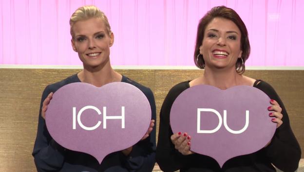 Video «Stéphanie Berger und Freundin Yvonne Wälti im «Ich oder Du»» abspielen