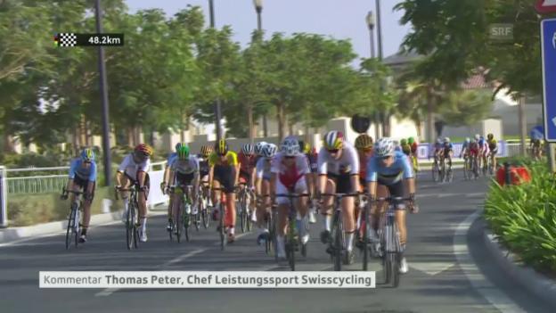Video «Thomas Peter (Swiss Cycling) über die Hitze» abspielen
