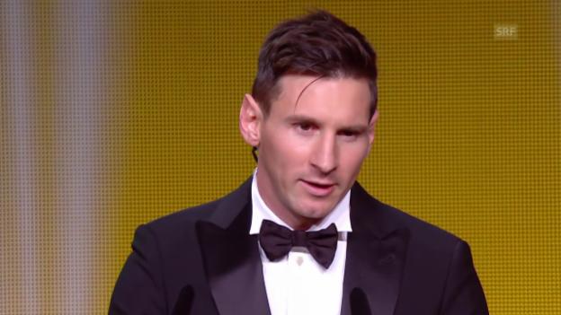 Video «Lionel Messi ist Fussballer des Jahres 2015» abspielen