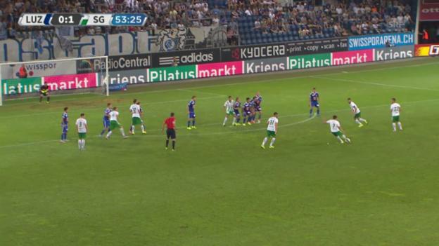 Video «Fussball: Super League, Highlights Luzern - St. Gallen» abspielen