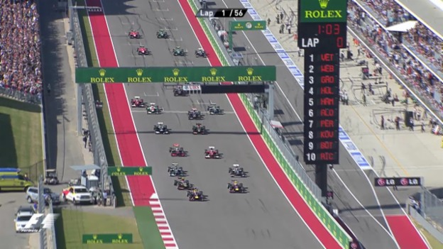 Video «Formel 1: Rennbericht GP USA» abspielen