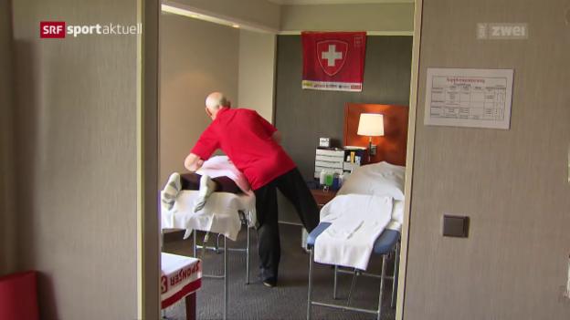 Video «Wie die Schweiz den Ruhetag an der WM verbracht hat» abspielen