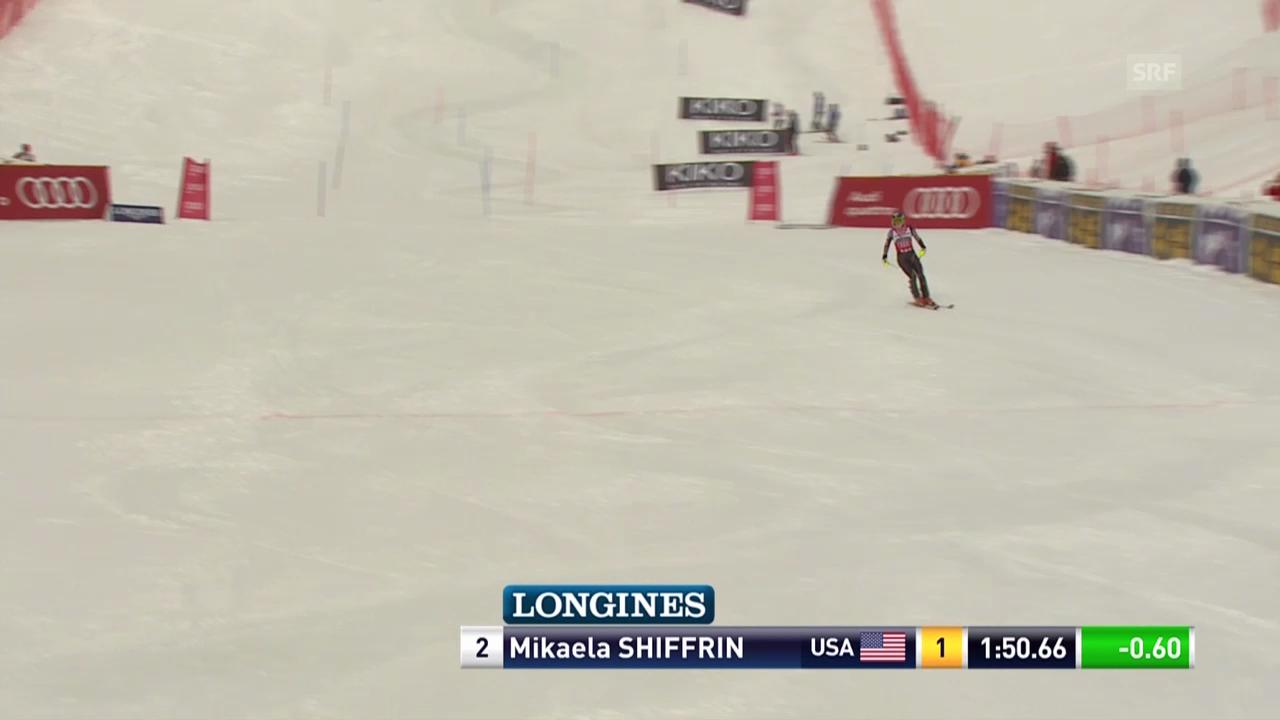 Ski Alpin: Slalom Are, 2. Lauf von Mikaela Shiffrin («sportlive», 8.3.2014)