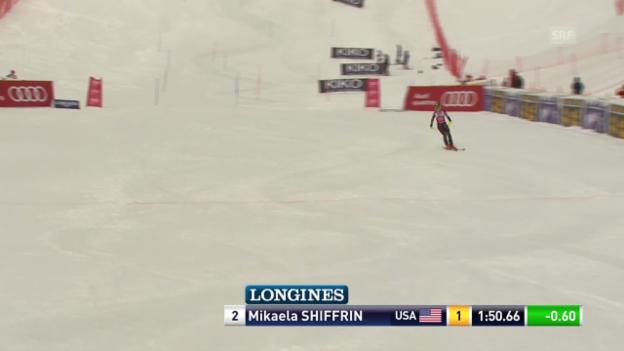 Video «Ski Alpin: Slalom Are, 2. Lauf von Mikaela Shiffrin («sportlive», 8.3.2014)» abspielen