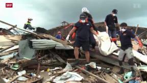 Video «Schwierige Bergungsarbeiten im philippinischen Katastrophengebiet» abspielen