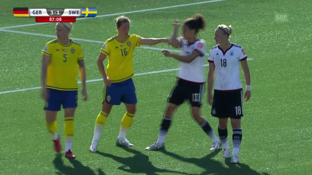 Fussball: Frauen-WM, Achtelfinal Deutschland - Schweden, 4:1 Marozsan