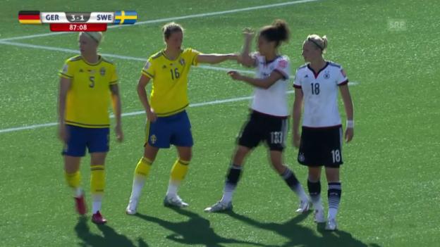 Video «Fussball: Frauen-WM, Achtelfinal Deutschland - Schweden, 4:1 Marozsan» abspielen