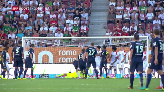 Video «Rodriguez trifft zum Bundesliga-Auftakt» abspielen