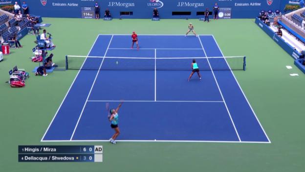 Video «Tennis: Spielbericht Doppel-Final Frauen US Open» abspielen