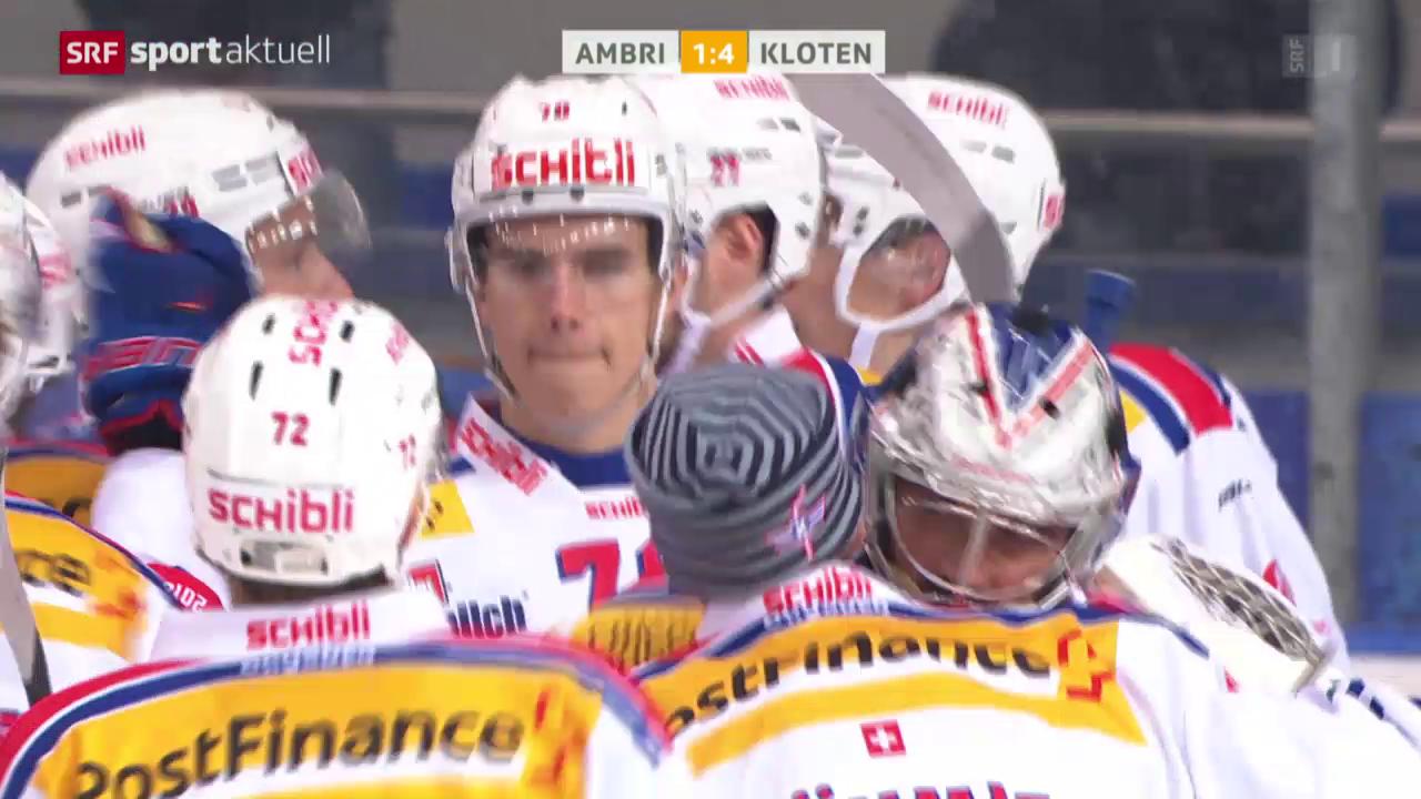 Eishockey: NLA, 11. Runde, Ambri - Kloten